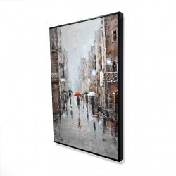 Framed 24 x 36 - 3D - City rain