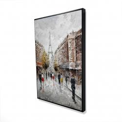 Framed 24 x 36 - 3D - Paris busy street