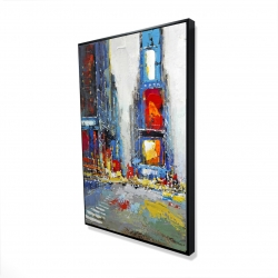 Framed 24 x 36 - 3D - Abstract and colorful buildings
