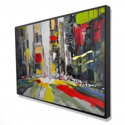 Framed 24 x 36 - 3D - Abstract texturized cityscape