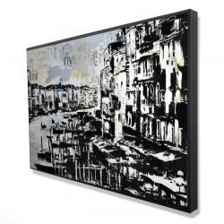 Framed 24 x 36 - 3D - Abstract venise port