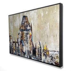 Framed 24 x 36 - 3D - Abstract château frontenac