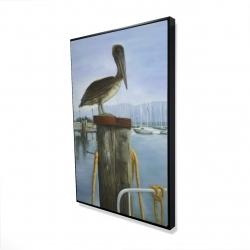 Framed 24 x 36 - 3D - Pelican