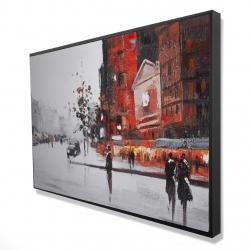 Framed 24 x 36 - 3D - Classic street scene