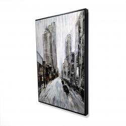 Framed 24 x 36 - 3D - Gray gloomy street