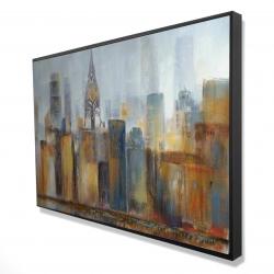 Framed 24 x 36 - 3D - Cityscape with chrysler building