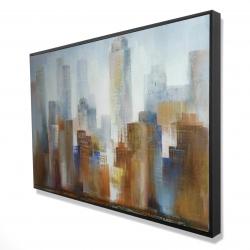 Framed 24 x 36 - 3D - Cityscape in the fog