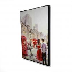 Framed 24 x 36 - 3D - Couple walking
