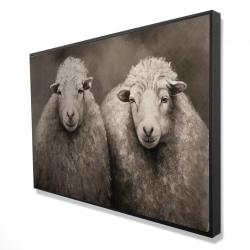 Framed 24 x 36 - 3D - Sheep sepia