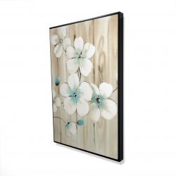 Framed 24 x 36 - 3D - Cherry blossom in white