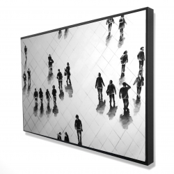 Framed 24 x 36 - 3D - Overhead view of people on the street