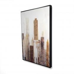 Framed 24 x 36 - 3D - Abstract earthy tones city