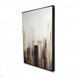 Framed 24 x 36 - 3D - Earthy tones city