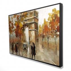 Framed 24 x 36 - 3D - Arc de triomphe in autumn