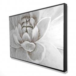 Framed 24 x 36 - 3D - Delicate white chrysanthemum