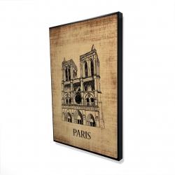 Framed 24 x 36 - 3D - Notre-dame de paris illustration