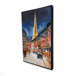 Framed 24 x 36 - 3D - Illuminated paris