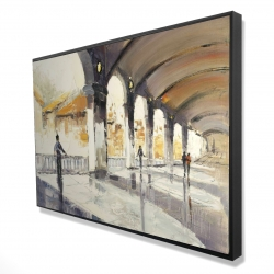 Framed 24 x 36 - 3D - People in a spacious hall