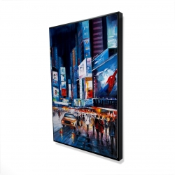 Framed 24 x 36 - 3D - Times square perspective