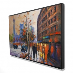 Framed 24 x 36 - 3D - City by fall