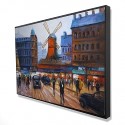 Framed 24 x 36 - 3D - Street scene to moulin rouge