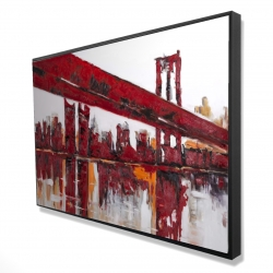 Framed 24 x 36 - 3D - Red bridge
