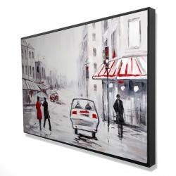 Framed 24 x 36 - 3D - Peaceful street scene