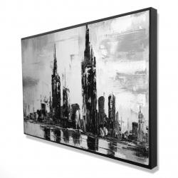 Framed 24 x 36 - 3D - Mono urban cityscape