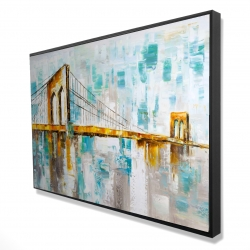 Framed 24 x 36 - 3D - Brooklyn bridge