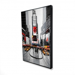 Framed 24 x 36 - 3D - New york city busy street