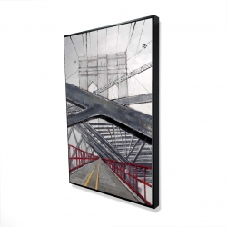 Framed 24 x 36 - 3D - Under the brooklyn bridge