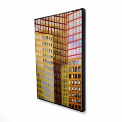 Framed 24 x 36 - 3D - Skyscrapers