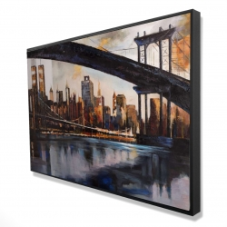 Framed 24 x 36 - 3D - Sunset over new york