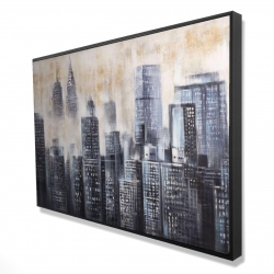 Framed 24 x 36 - 3D - Buildings through the clouds