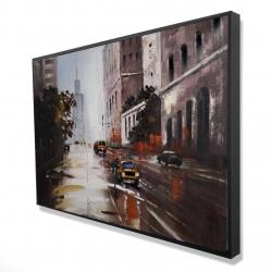 Framed 24 x 36 - 3D - Morning street scene