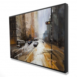 Framed 24 x 36 - 3D - Abstract city street