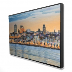 Framed 24 x 36 - 3D - Skyline of quebec city