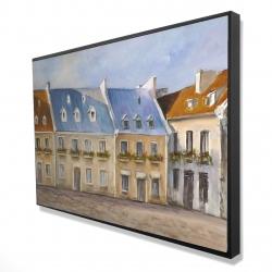 Framed 24 x 36 - 3D - Old quebec city