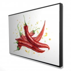 Framed 24 x 36 - 3D - Red hot peppers