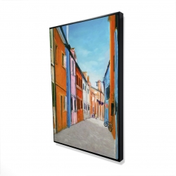 Framed 24 x 36 - 3D - Colorful houses in italy