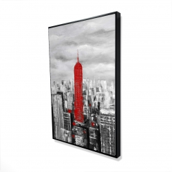 Framed 24 x 36 - 3D - Empire state building of new york