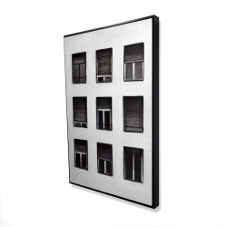 Framed 24 x 36 - 3D - Windows