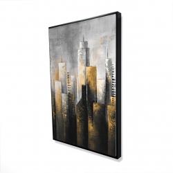 Framed 24 x 36 - 3D - Abstract skyline