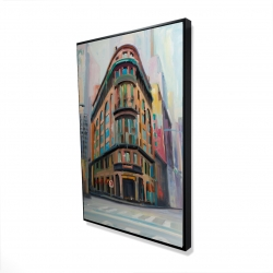 Framed 24 x 36 - 3D - Building architecture in new-york