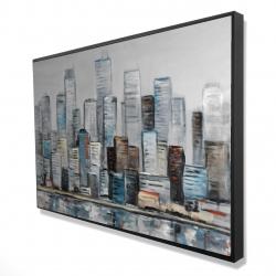 Framed 24 x 36 - 3D - Abstract urban skyline