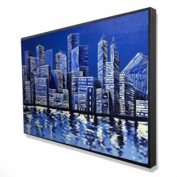 Framed 24 x 36 - 3D - Blue skyline