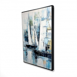 Framed 24 x 36 - 3D - Industrial style boats