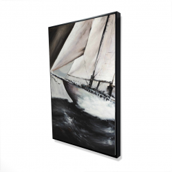 Framed 24 x 36 - 3D - Boat in a violent storm