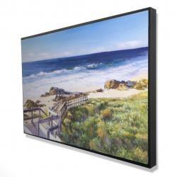 Framed 24 x 36 - 3D - Walk to the beach