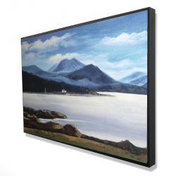Framed 24 x 36 - 3D - Scottish highlands by a beautiful day